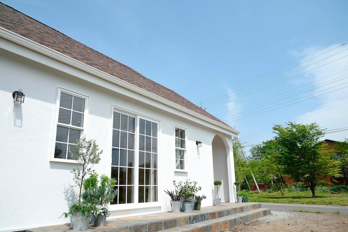 白い家 塗り壁の注文住宅 群馬前橋S邸